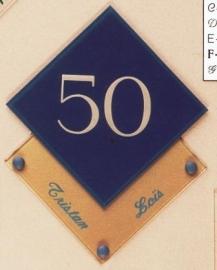 Gravoglas naamplaat art nr. 4301