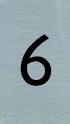Aluminiumlook nummerbordje 6