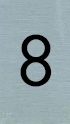 Aluminiumlook nummerbordje 8