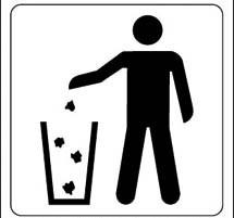 afval in de bakken