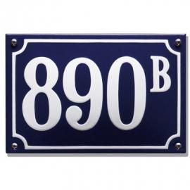 Emaille huisnummers artnr. HG-09 - HG-12