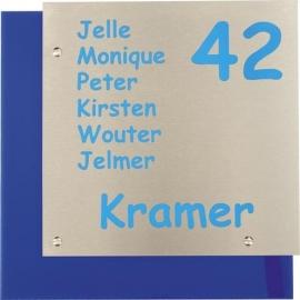 RVS Naamplaat met achtergrond art nr. 1203
