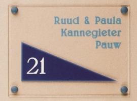 Gravoglas naamplaat art nr. 4009