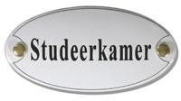 Emaille artnr. NS-1020 (10x5 cm) type Studeerkamer