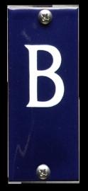 Emaille nummer b koppelbaar