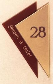 Gravoglas naamplaat art nr. 4107