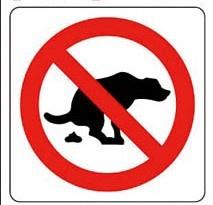 hier geen honden poep