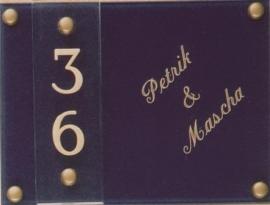 Gravoglas naamplaat art nr. 4205