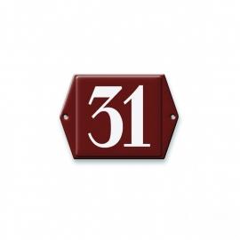 3D gegoten huisnummerbord artnr.533