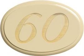 Houten nummerbord art nr.8001