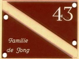 Gravoglas naamplaat art nr. 4012