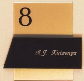 Gravoglas naamplaat art nr. 4414