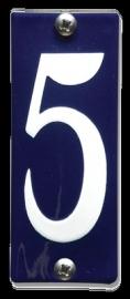 Emaille nummer 5 koppelbaar