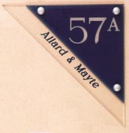 Gravoglas naamplaat art nr.4108