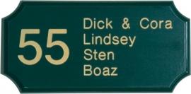 Houten naambord art nr.8203