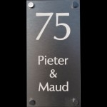 Aluminium naambord Artnr.bg-27 (6x12)