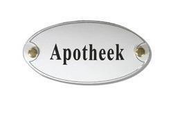 Emaille artnr. NS-1001 (10x5 cm) type Apotheek