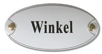 Emaille artnr. NS-1025 (10x5 cm) type winkel