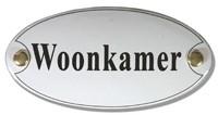 Emaille artnr. NS-1026 (10x5 cm) type woonkamer