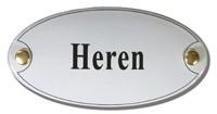 Emaille artnr. NS-1011 (10x5 cm) type Heren