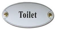 Emaille artnr. NS-1021 (10x5 cm) type Toilet