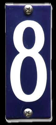 Emaille nummer 8 koppelbaar