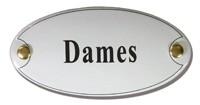 Emaille artnr. NS-1005 (10x5 cm) type Dames