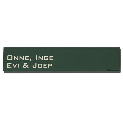 Emaille naamplaatje artnr. NPR-34 (16x5 cm)