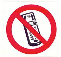 verboden mobile telefoons