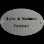 Aluminium naambord Artnr.bg-42 (18x10)