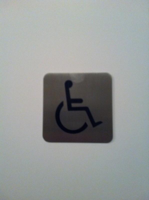 Geborsteld RVS Artnr. 033 rolstoelbord vierkant