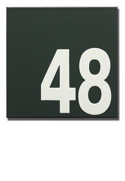 Emaille huisnummer artnr. HR-51 (16x16 cm)