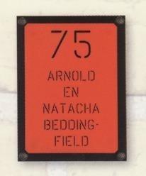 Naambord art nr. 6005