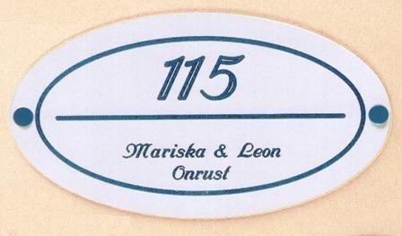 Gravoglas naamplaat art nr. 4701