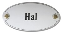 Emaille artnr. NS-1009 (10x5 cm) type Hal