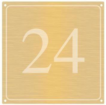 Messing naambord vanaf 12x12 cm