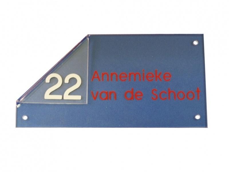 Acrylaat naambord artnr.GM010-GM012