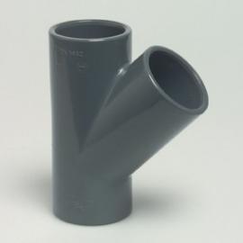PVC Tstuk45 3 X lijm 50mm doorsnede