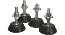 Montagesokkel Per set van 4 stuks, Onafhankelijk in hoogte verstelbaar.