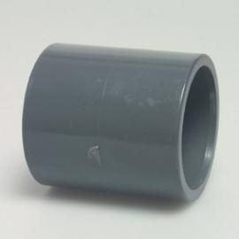 PVC Sok 2 X lijm 50mm doorsnede