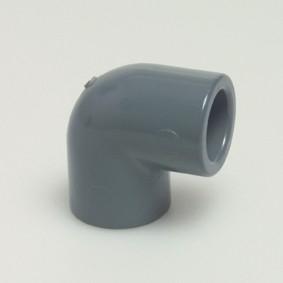 PVC-Knie-90-2X lijm 50mm doorsnede