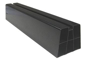 Montagebalk zwart 2x 450mm voor montage op plat dak