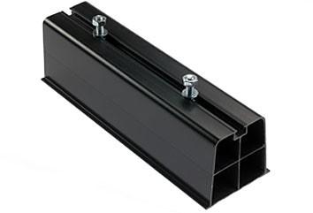 Montagebalk zwart 2x 1 Meter  voor montage op plat dak