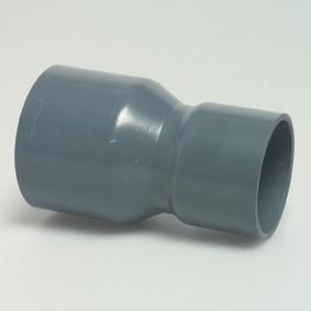 PVC Verloop van 50mm naar 63mm doorsnede