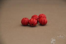 Pompoen kraal rood