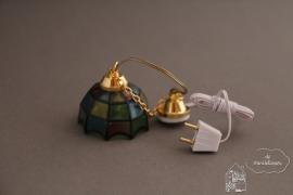 Tiffany hanglamp gekleurd