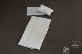 Eenpersoons wit lakenset
