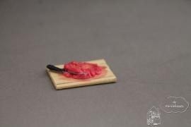 Snijplank met gehakt