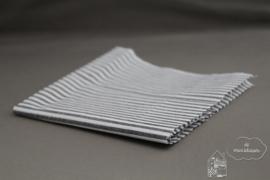 Zwart/wit gestreept stof