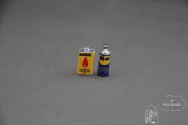 Fles gas en fles multispray